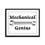 Mechanical Genius Framed Panel Print