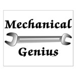 Mechanical Genius Small Poster