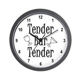 Tender Bartender Wall Clock