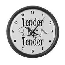 Tender Bartender Large Wall Clock