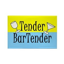 Tender Bartender Rectangle Magnet
