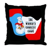 Coolest Cook Throw Pillow
