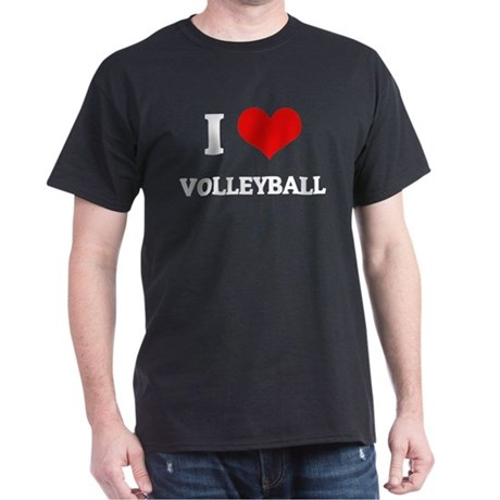 I Love Volleyball Black T-Shirt