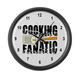 Cooking Fanatic Large Wall Clock