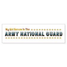 My Army Guard Girl Bumper Bumper Sticker