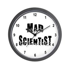 Mad Scientist Wall Clock