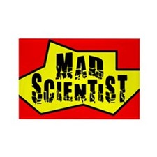 Mad Scientist Rectangle Magnet (100 pack)