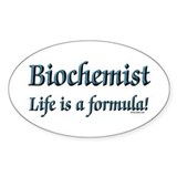 Biochemist Oval Decal