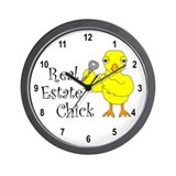 Real Estate Chick Wall Clock
