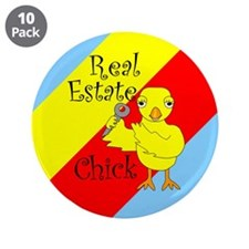 "Real Estate Chick 3.5"" Button (10 pack)"