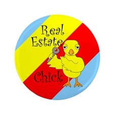 "Real Estate Chick 3.5"" Button"