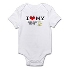 I Love My Rescue Mutt Infant Bodysuit