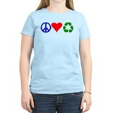Peace, love, recycle T-Shirt