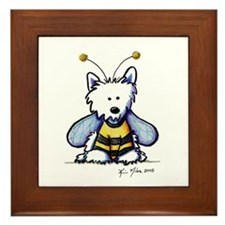 Buzzy Bee Westie Framed Tile