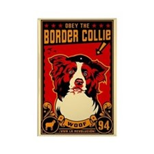 Border Collie Revolution! Rectangle Magnet