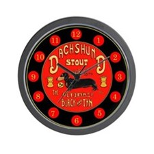 Dachshund Stout Red Wall Clock