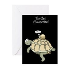 Turtley Awesome Thanks! Greeting Cards (Pk of 10)
