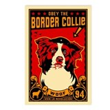 Border Collie Revolution! Postcards (Pack of 8)