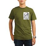 Royal Snow SF Pigeon Organic Men's T-Shirt (dark)