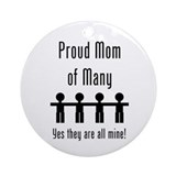 Mom of Many - 4 kids Ornament (Round)