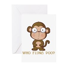 Who Flung Poo? Greeting Cards (Pk of 10)