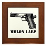 Molon Labe Framed Tile