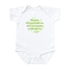 Plato Quote: Be Kind -- Infant Bodysuit
