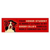 Border Collie Honor Student Bumper Bumper Sticker