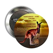 "Diamond Kangaroo Kiwi Cruise- 2.25"" Button (100 pa"