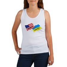 American-Ukrainian Flags Women's Tank Top