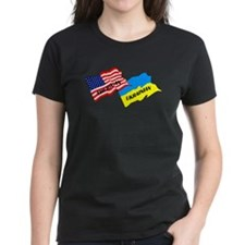 American-Ukrainian Flags Tee