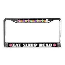 Eat Sleep Read License Plate Frame