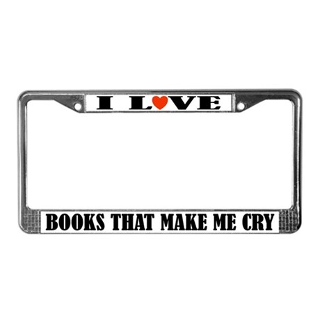 I Love Books License Plate Frame