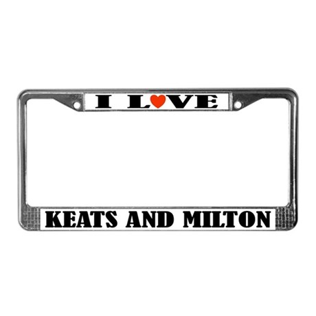 I Love Milton License Plate Frame
