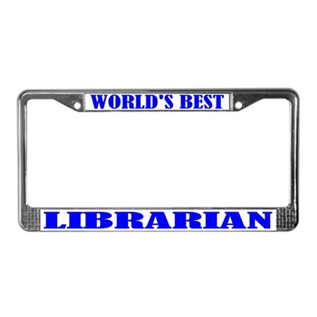 Librarian License Plate Frame