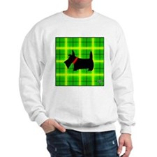 Green Plaid Scottie Sweatshirt