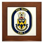 USS Wasp LHD-1 Navy Ship Framed Tile