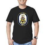 USS Wasp LHD-1 Navy Ship Men's Fitted T-Shirt (dar