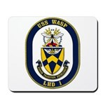 USS Wasp LHD-1 Navy Ship Mousepad