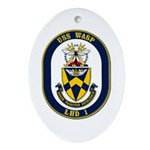 USS Wasp LHD-1 Navy Ship Oval Ornament