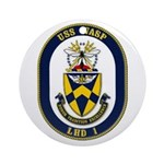 USS Wasp LHD-1 Navy Ship Ornament (Round)