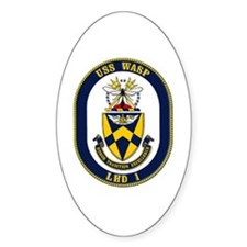 USS Wasp LHD-1 Navy Ship Oval Decal