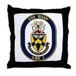 USS Wasp LHD-1 Navy Ship Throw Pillow