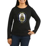 USS Wasp LHD-1 Navy Ship Women's Long Sleeve Dark