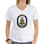 USS Wasp LHD-1 Navy Ship Women's V-Neck T-Shirt