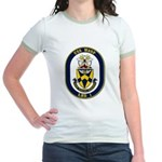 USS Wasp LHD-1 Navy Ship Jr. Ringer T-Shirt