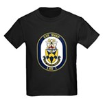 USS Wasp LHD-1 Navy Ship Kids Dark T-Shirt