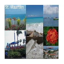 Sint Maarten - St. Martin Photo Tile Coaster