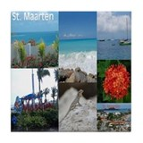 Sint Maarten-St. Martin Photo Tile Coaster