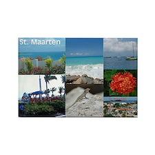 Sint Maarten-St. Martin Photo Rectangle Magnet